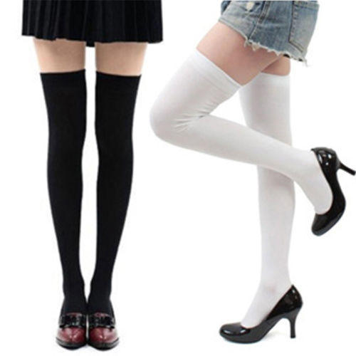 f323ecf10 Women Cable Knit Extra Long Boot Socks Over Knee Thigh High School Girl  Stock