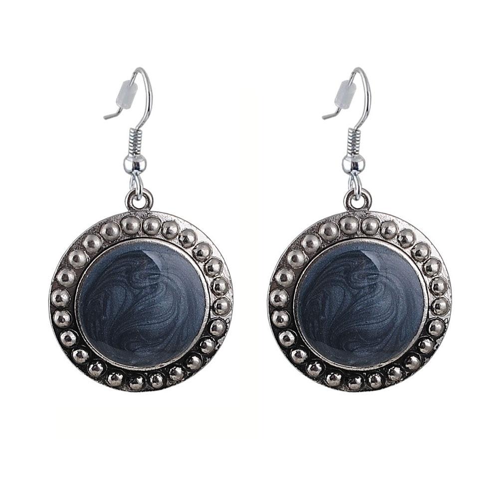 Dangle Earring Fashion Party Dresses Bohemia Style Enamel Beads Statement Love Heart Drop Earrings Vintage Jewelry for Women in Drop Earrings from Jewelry Accessories