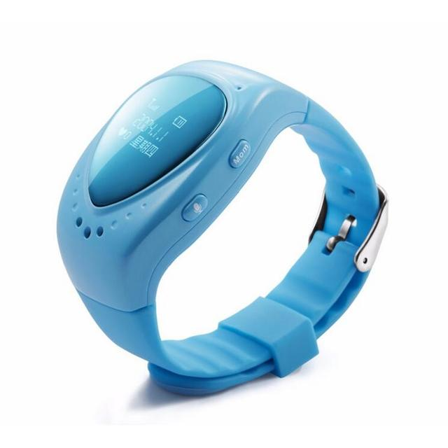 New A6 children call positioning smart watches, fashion cute pink blue two-color GPS anti-lost smart phone watch.