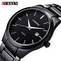 2016 Nuevo Curren cuarzo Tag Negro Moda de acero completa Casual reloj de Los Hombres de Negocios Hombre Relojes hombre Reloj Simple regalo