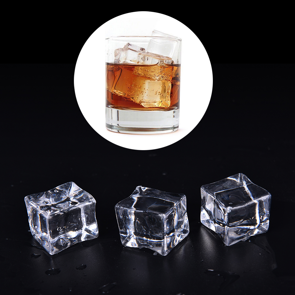 10pcs clear square fake artificial acrylic ice cubes for Crystal home decorations