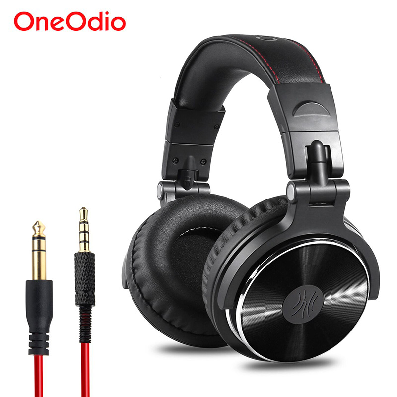 Oneodio DJ Headset Earphone With Microphone PC Wired Over-ear Hifi Studio DJ Headphone Professional Stereo Monitor Urbanfun edifier h210 3 5mm in ear hifi stereo earphone headset headphone for cellphone tablet pc