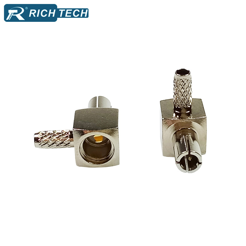 5pcs Brass Right angle TS9 connectors RF coaxial cable male plug adapter TS9 USB modem TV antenna coax cable TS9 wire connectors lpl 50 rf connectors coaxial connectors rca coax looping p