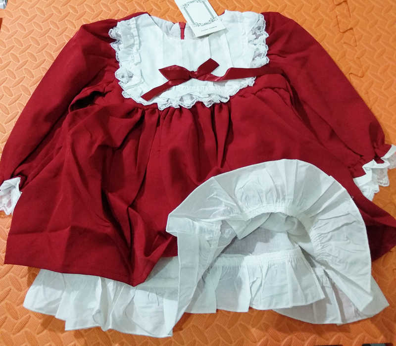 ce8f1f76a3120 baby girl winter princess dresses vintage red Lace long sleeve New Year  costumes dresses Christmas evening party birthday dress