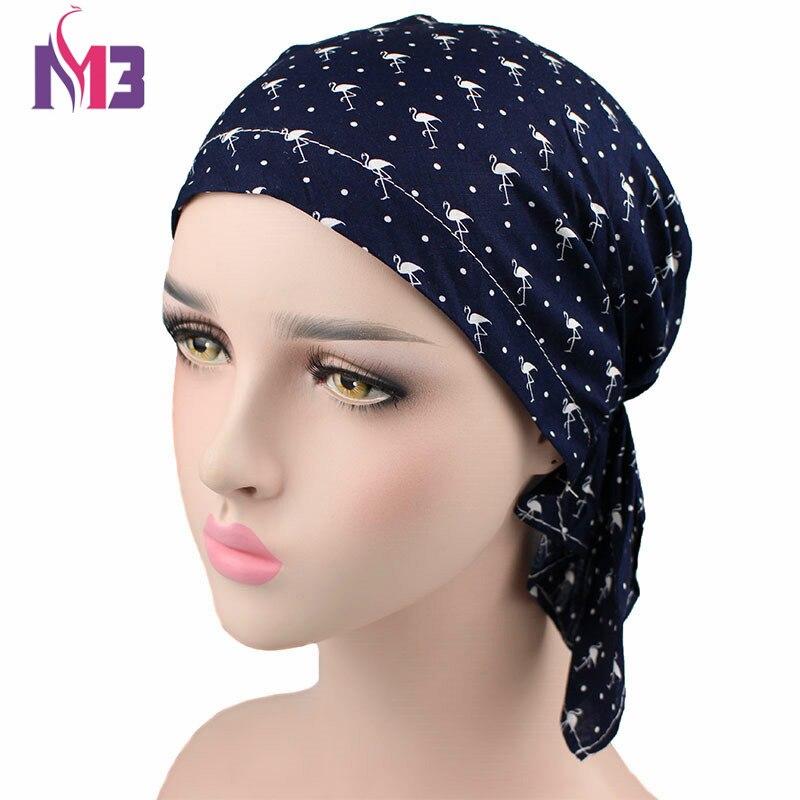 Fashion Women Turban Print Headwear For Chemo Pre Tied Bandanas Wrinkle  Turban Hat Headband Hair Accessories Headscarf-in Women s Hair Accessories  from ... b4abb68a148