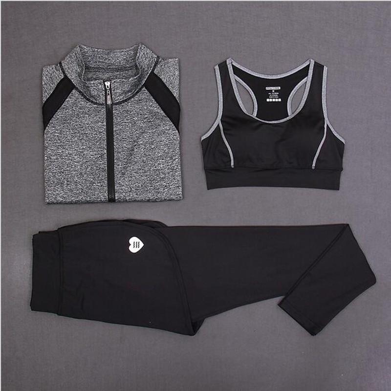 Նոր 3 կտոր կոստյում կին յոգայի ֆիթնես - Սպորտային հագուստ և աքսեսուարներ - Լուսանկար 5