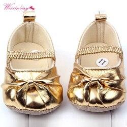 Weixinbuy adorável bebê da criança da menina do bebê macio sola flor prewalker berço sapatos