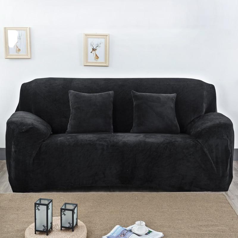 Homing Anti Slip Simple Style Slipcovers Protector Furniture Sofa Tight Wrap Inclusive Sofa Cover Elastic Sofa Towel Solid Color
