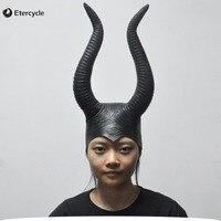 Maleficent Angelina Masken Frauen Film Cosplay Requisiten Halloween Scary Latex Maske