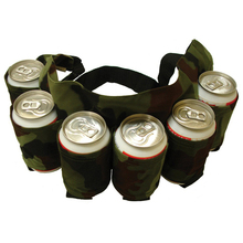 Outdoor Climbing Camping Hiking 6 Pack Holster Portable Bottle Waist Beer Belt Bag Handy Wine Bottles Beverage Can Holder(China)