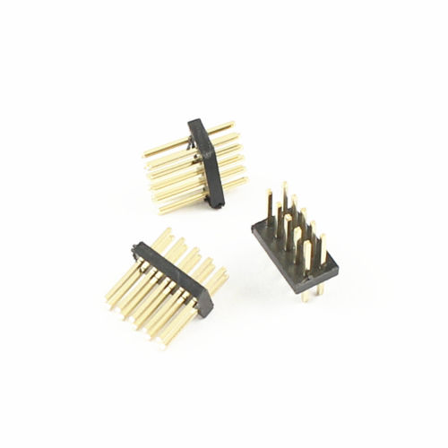 10Pcs Gold Plated 1.27mm Pitch Male 2x5 Pin 10 Pin Straight Pin Header Strip NEW