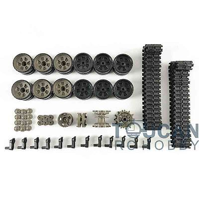 HengLong 1/16 Russian T90 RC Tank 3938 Plastic Tracks Sprocket Idler Road Wheels henglong 3938 3938 1 russian t90 1 16 rc tank upgrade parts metal chain set driving wheel inducer free shipping