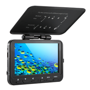 """Image 2 - 1000TVL Fish Finder Underwater Ice Fishing Camera with Trolling Reel 4.3"""" LCD Monitor 8 Infrared IR LEDs Night Vision Camera"""