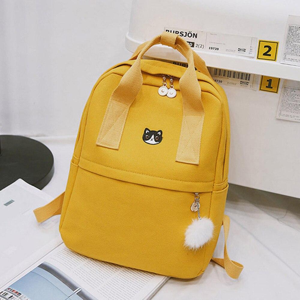 Adrette Frauen Rucksack für Schule Jugendliche Mädchen Vintage Stilvolle Schule Tasche Damen Leinwand Stoff Rucksack Weibliche Bookbag Mochila