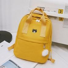 Preppy Women Backpack for School Teenagers Girl Vintage Stylish School Bag Ladies Canvas Fabric Backpack Female