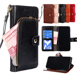 Flip Wallet Leather Case for Samsung Galaxy S9 S8 plus S7 S6 edge plus S5 NOTE 5 4 3 Grand prime G530 On7 With Card Slots Holder