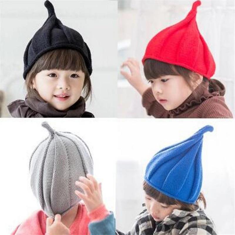 DoreenBow New Fashion Autumn Winter Warm Wool Beanie Skullies Casual Kids Children Boy Girl Soild Color Hats Christmas парик с цветной челкой