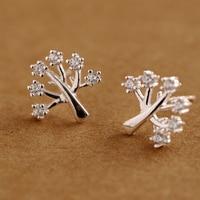 925 Silver Earrings Sweet And Fine Diamonds Wishing Trees Earrings Earrings Women S Fashion Women S