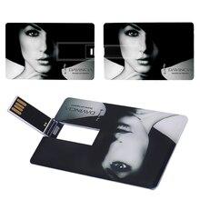 Credit Card 16GB 32GB USB Flash Drive 8gb Pen Drive Pendrive 4GB Memory Stick External Storage Usb Flash Card Logo Custom