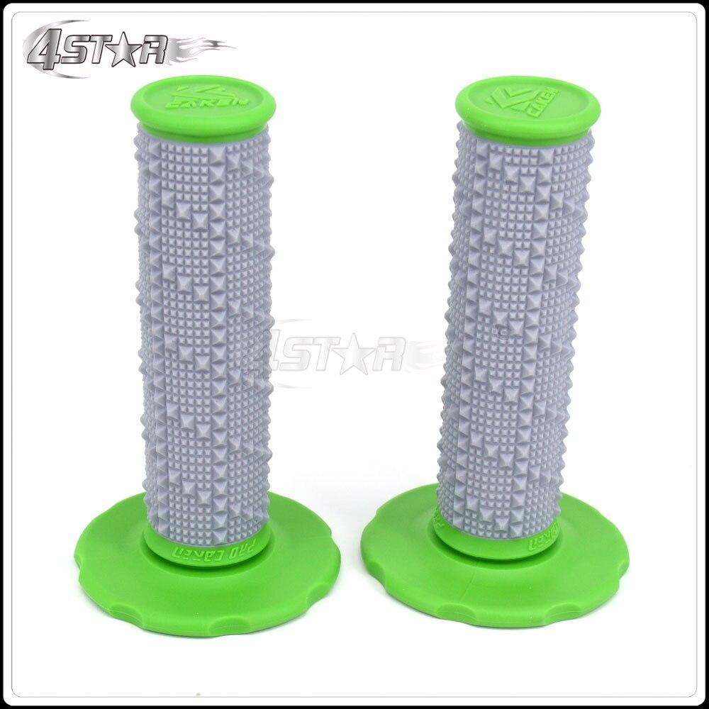 Minkštos žalios MX rankenų juostos guminės gelio rankenėlės tinka KX125 KX250 KX250F KX450F KLX450 KLX250