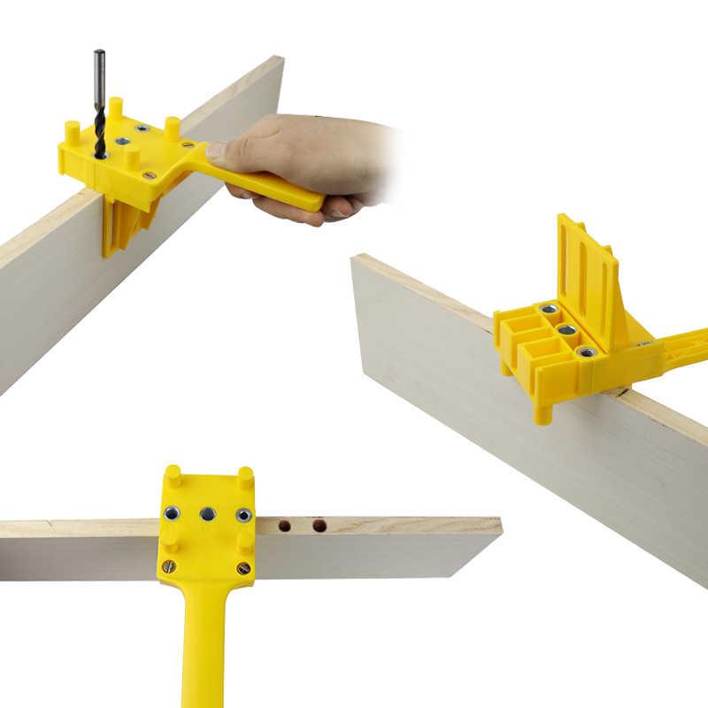 クイック木材 Doweling ジグ ABS プラスチックハンドヘルドポケット穴ジグシステム 6/8/10 ミリメートルドリルビット穴パンチャー大工ダボ関節