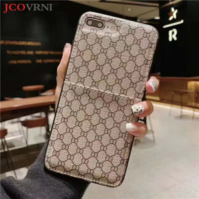 JCOVRNI The New Classic double O pattern card holder for iphone XR XSMAX 7plus 8plus all