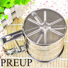 Handheld Baking Cake Tool Stainless Steel Mechanical Baking Icing Sugar Shaker Sieve Cup Mesh Powder Flour Sieve Accessory 1pc coffee powder sieve multifunctional stainless steel flour sieve filter cup dustproof coffee grinder accessory for barista