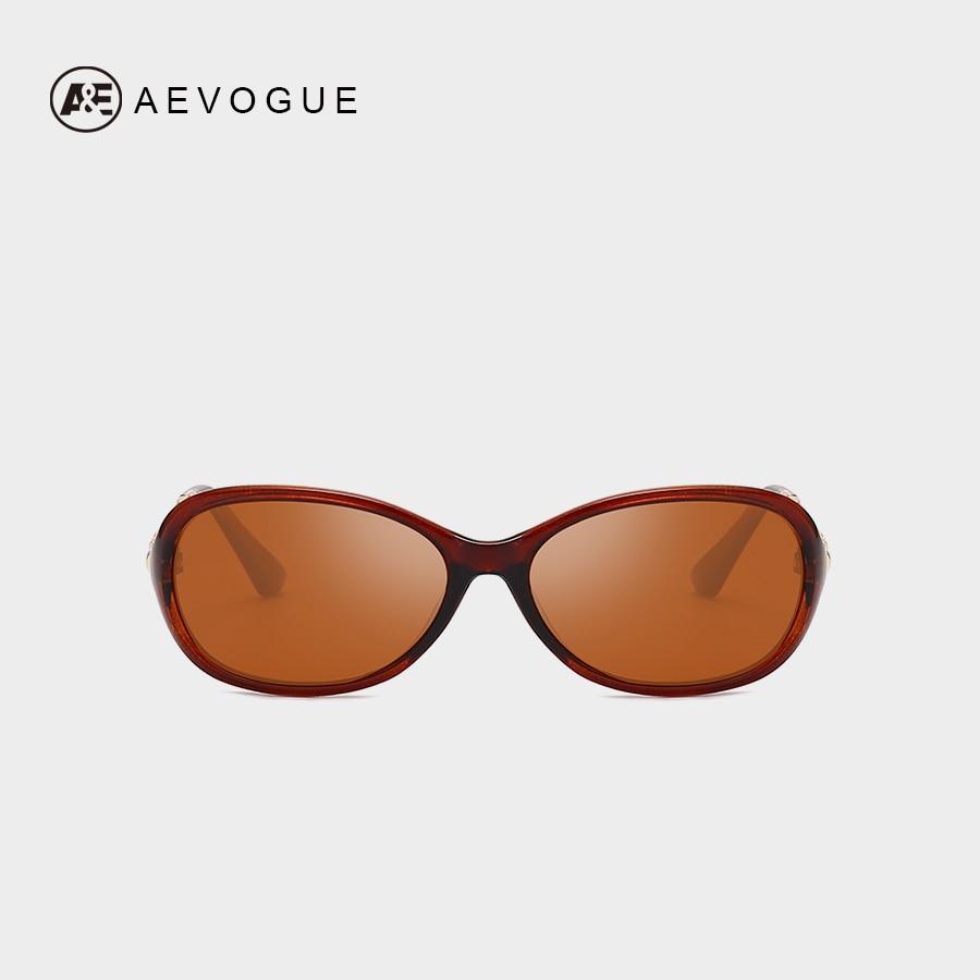 AEVOGUE Polarized Sunglasses Women Vintage Rectangle Frame Brand Design Rhinestone Sun glasses Oculos Ladies UV400 AE0679