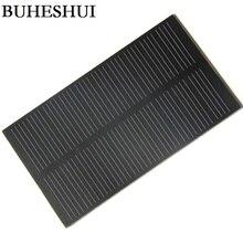 BUHESHUI 1 Вт 5 В монокристаллическая ПЭТ солнечная панель модуль солнечных батарей DIY Солнечное зарядное устройство для батареи 3,7 в 107*61 мм 1000 шт