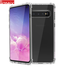 for Samsung Galaxy S10 Case IPAKY S10e Back TPU Bumper Hybrid Transparent Shockproof Airbag