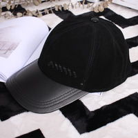 New LEATHER HAT men's leather baseball cap casual outdoor men's hats man Baseball Caps
