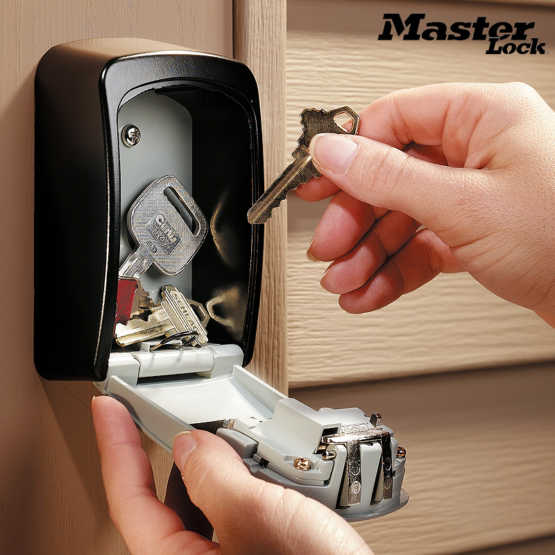 Master Lock Key Safe Box Outdoor Wall Mount Combination Password Lock Hidden Keys Storage Box Security Safes For Home Office