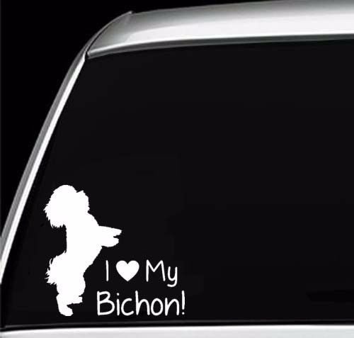 Car Styling For Bichon Frise Dog Silhouette Paws Car Window Truck Laptop  Vinyl Decal Sticker In Car Stickers From Automobiles U0026 Motorcycles On ...