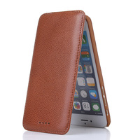 100 Retro Genuine Real Leather Vertical Folio Flip Stand Cover Coque Fundas Case For Apple IPhone