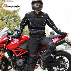 Motorcycle Jacket Pants Motorbike Riding Suit Summer Breathable Racing Clothing Body Protective Guards JK-08