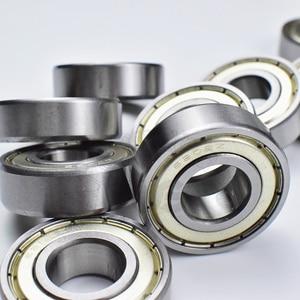 Image 3 - 6202ZZ 15*35*11 (mm) 10 pezzi spedizione gratuita cuscinetto ABEC 5 10 Pezzo di chiusura in metallo di cuscinetti 6202 6202Z 6202ZZ in acciaio cromato cuscinetto