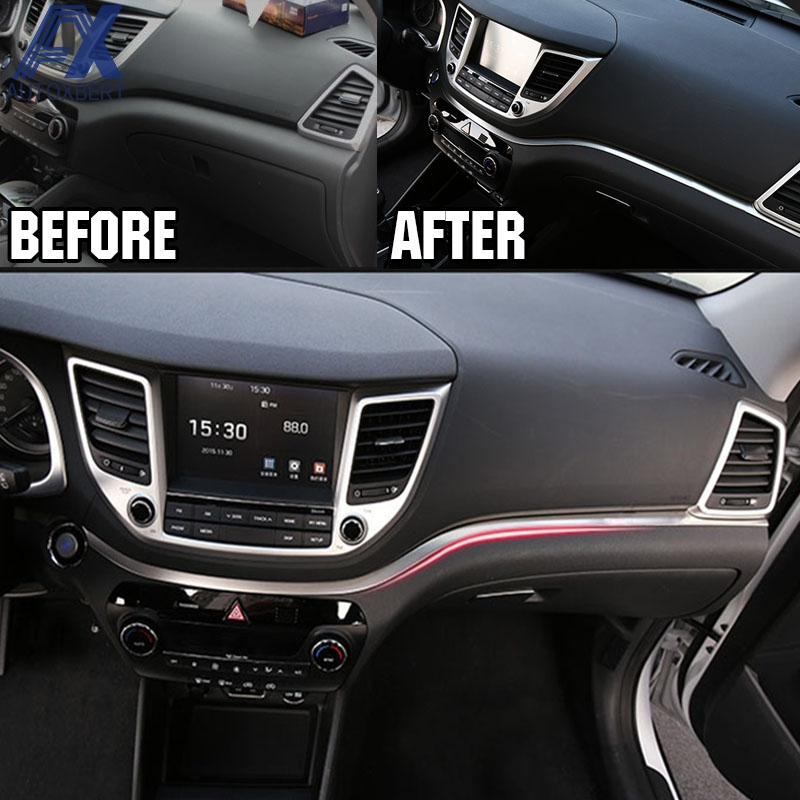 AX Stainless Steel Dashboard Trim Center Console Panel