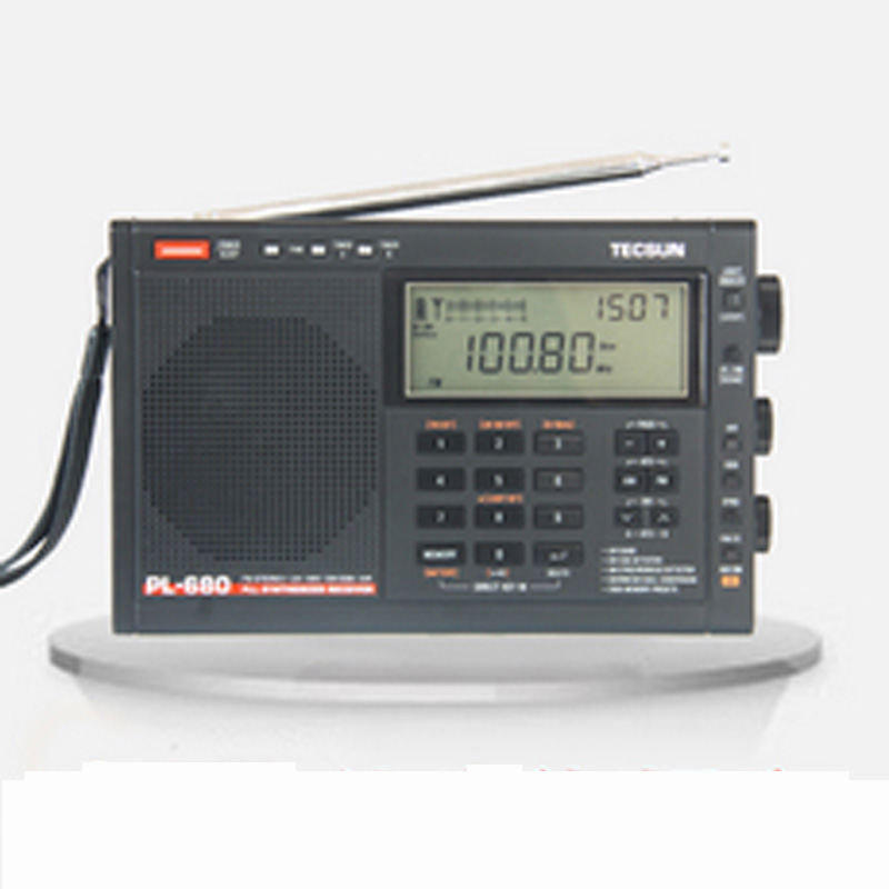 TECSUN PL-680 PL680 FM Radio Synthesized Receiver Stereo Portable DSP Digital old version degen de1103 1 0 ssb pll fm stereo sw mw lw dual conversion digital world band radio receiver de 1103 free shipping