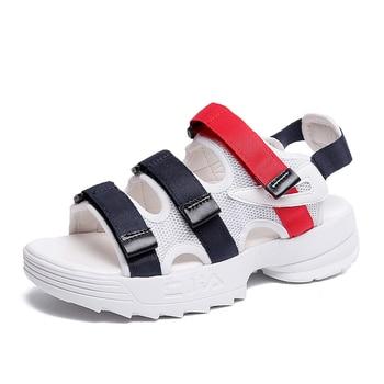 075f6345 2019 sandalias de plataforma de malla de verano para mujer Sandalias de playa  casuales gruesas zapatos de mujer Sandalias de exterior zapatillas cuñas ...