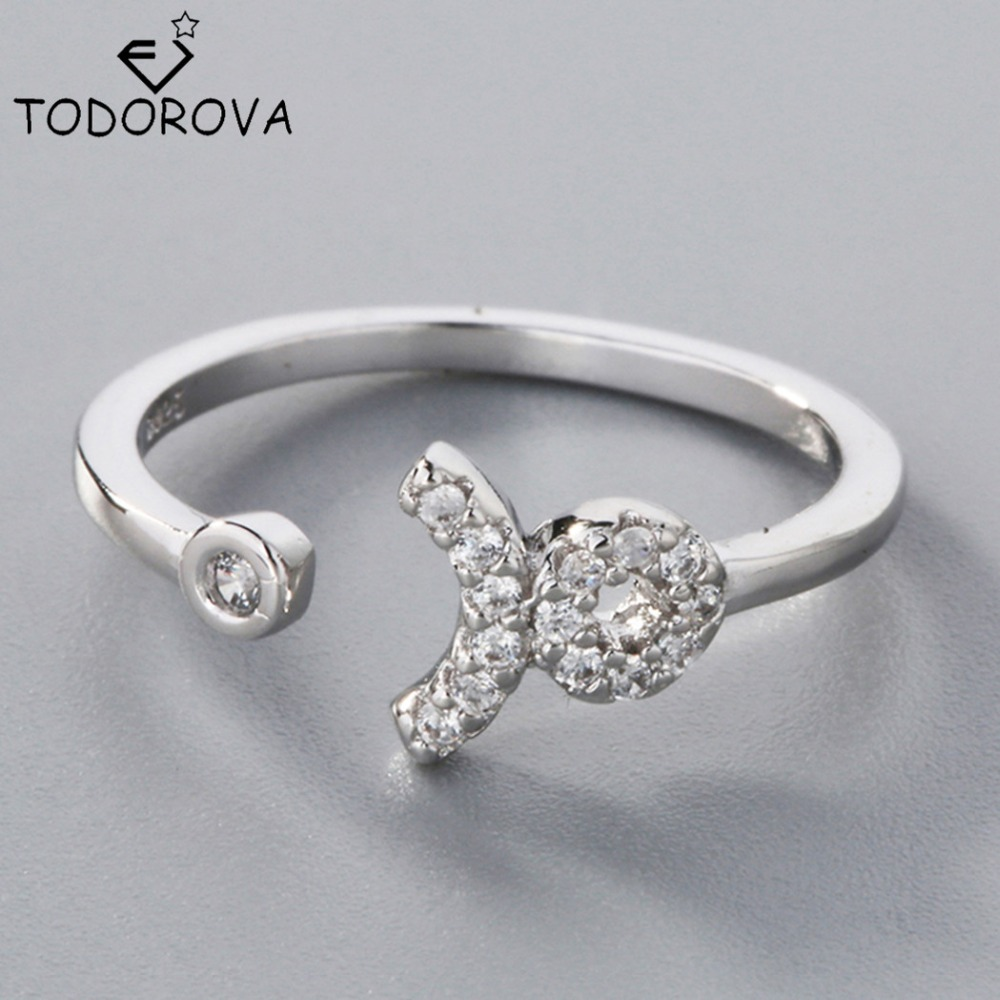 ᗚTodorova 100% 925 Sterling Silver Ring Wedding Gift Sterling ...