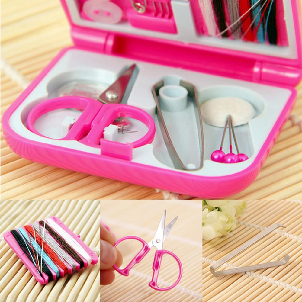 Home Essential Sewing tools Traveling kits with threads needle scissor pin outdoor sewing set household Small Gifts Customized