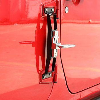 Schwarz Rot Metall Scharnier Fuß Schritt Pedal Außen Klapp Fuß Rest Pedal Pegs Für Jeep Wrangler JK 2007-2016 außerhalb Auto Fuß Peda