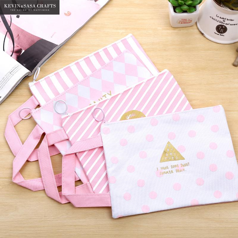 Filing Products Cheap Sale Cute Black Cat A4 Bag Fabric File Folder For Documents Stationery 32*24cm Document Bag School Suppliers Office & School Supplies