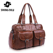 High Quality Multifunction Men Genuine Leather Bag Casual Travel Bolsa Masculina Men s Crossbody Shoulder Bag