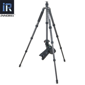 Image 5 - RT55C Professional 10 Layers Carbon Fiber Tripod video travel portable Monopod with ball head for DSLR camera Max Height 161cm