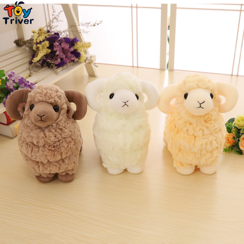 Kawaii Sheep Lamb Goat Plush Toy Triver Stuffed Animal Doll Toys Baby Kids Children Boy Girl Birthday Gift Home Decor