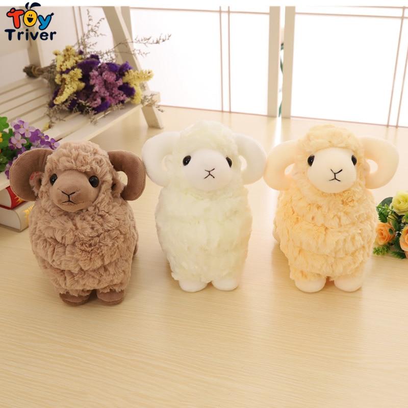 Kawaii Sheep Lamb Goat Plush Toy Triver Stuffed Animal Doll Toys Baby Kids Children Boy Girl Birthday Gift Home Decor