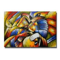 Free Shipping World famous paintings Picasso s abstract painting Woman playing the guitar Hand painted oil painting on canvas