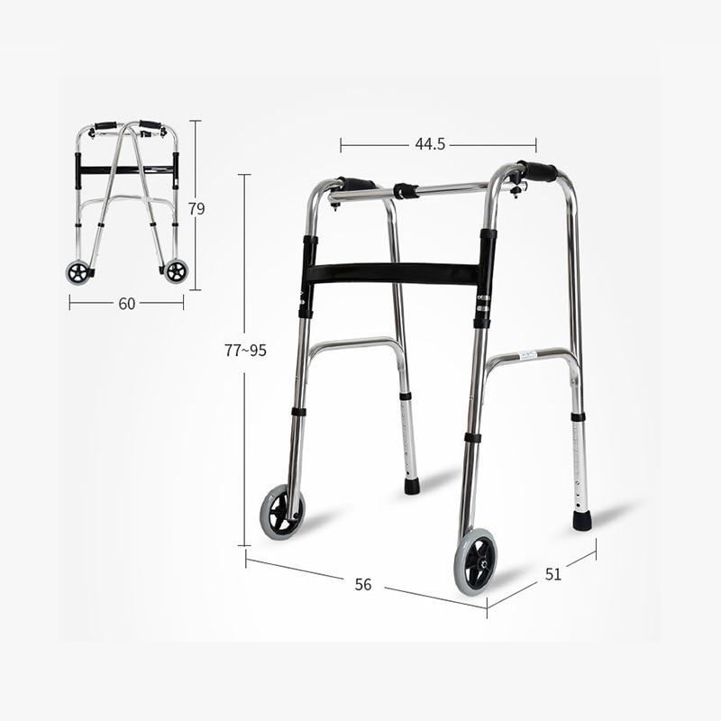 Faltbare Gehhilfen Verstellbare Falten Für Patienten Mit 2 Rädern Tropf-Trocken