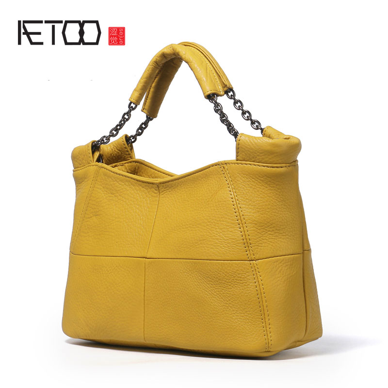 AETOO Leather handbags new shoulder bag casual ladies simple   Messenger bag handbag aetoo the new national style classical leather handbags ladies retro fashion handbag shoulder messenger bag